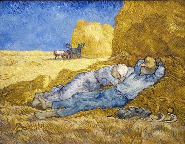 Rest from Work (after Millet) by Vincent Van Gogh in his St Remy days